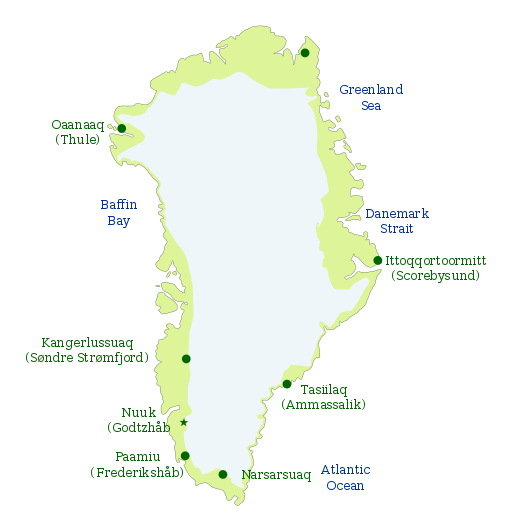 Kaart Groenland